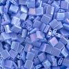 Miyuki Tila Bead 5X5mm 2 Hole Lapis Blue Opaque Aurora Borealis